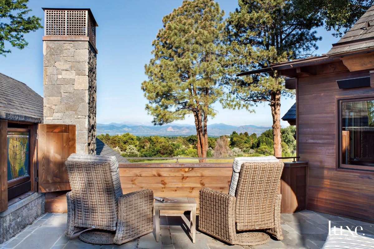 An Elevated Patio with Expansive Views in A Mountain Modern Denver Home