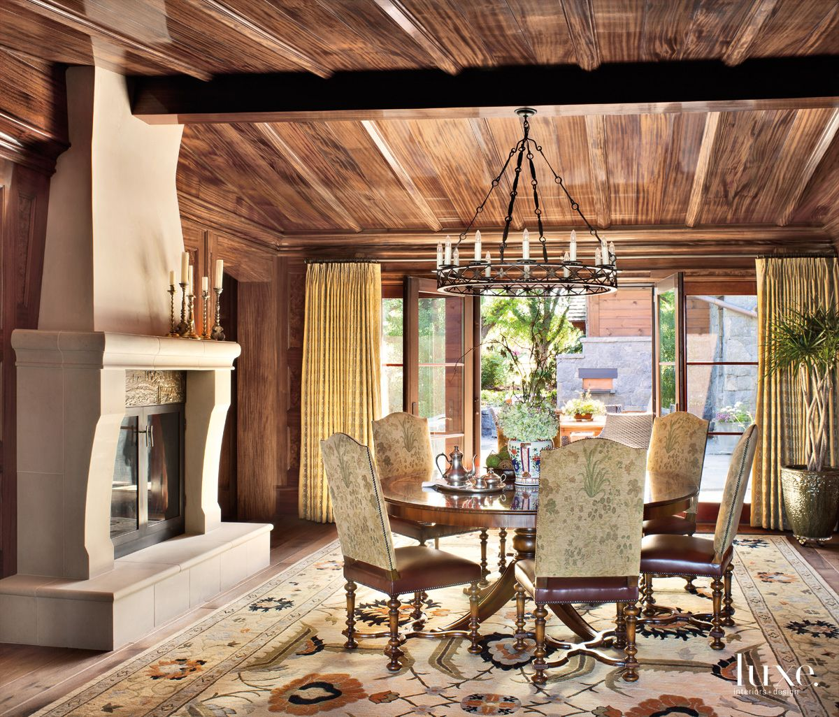 Mahogany Paneling in a Mountain Modern Denver Home