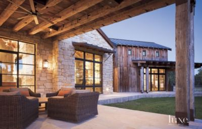 A Rustic, Barn Style Retreat In Texas Hill Country   Luxe Interiors + Design