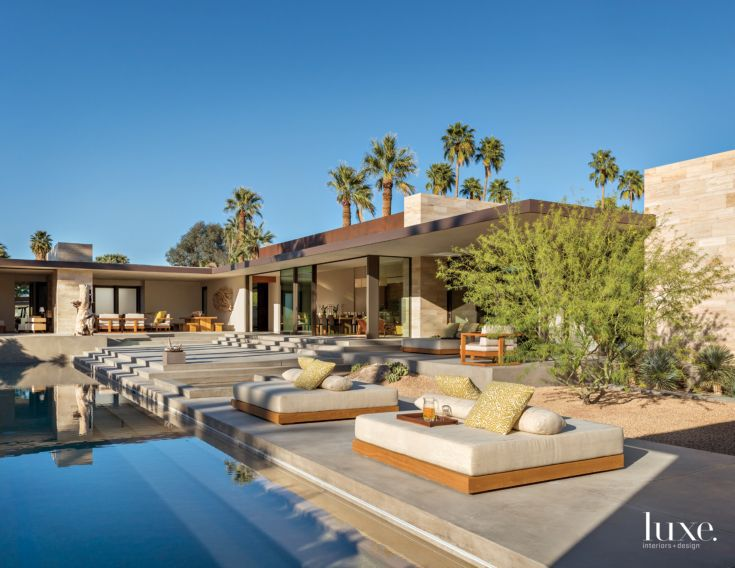 A Modern Palm Springs Desert Home with Midcentury Style - Luxe ...