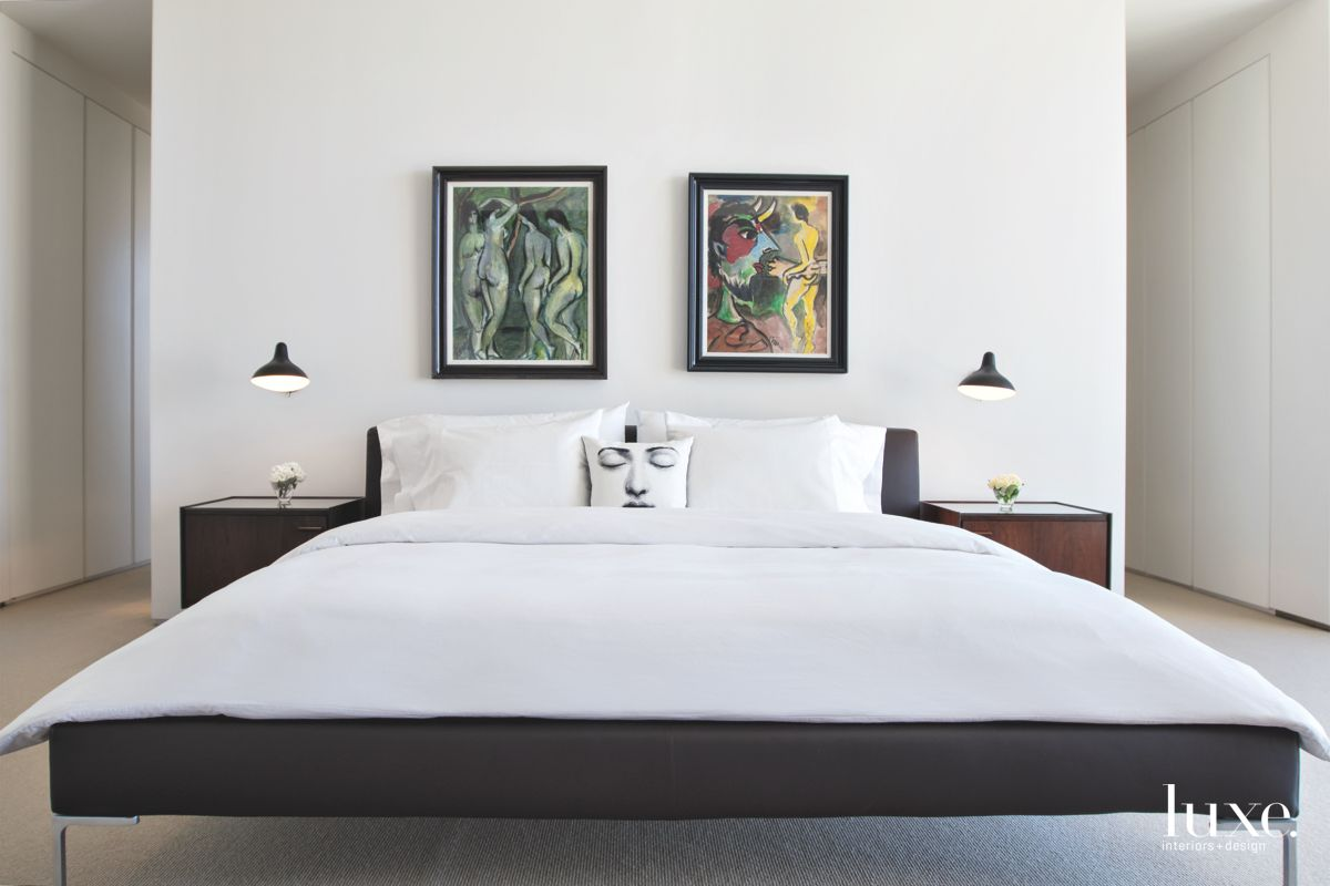 Contemporary Tucson Bedroom Styled with Art