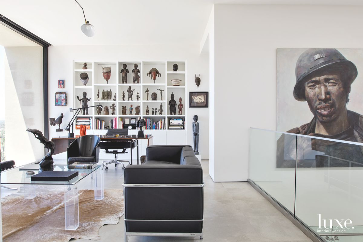 Contemporary Tucson Study Filled with Art