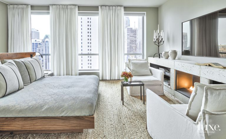 Rich Organic Contemporary Master Bedroom In Chicago Condo Luxe