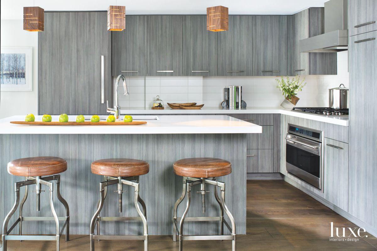 Grey Modern Kitchen in Vail Valley Condo