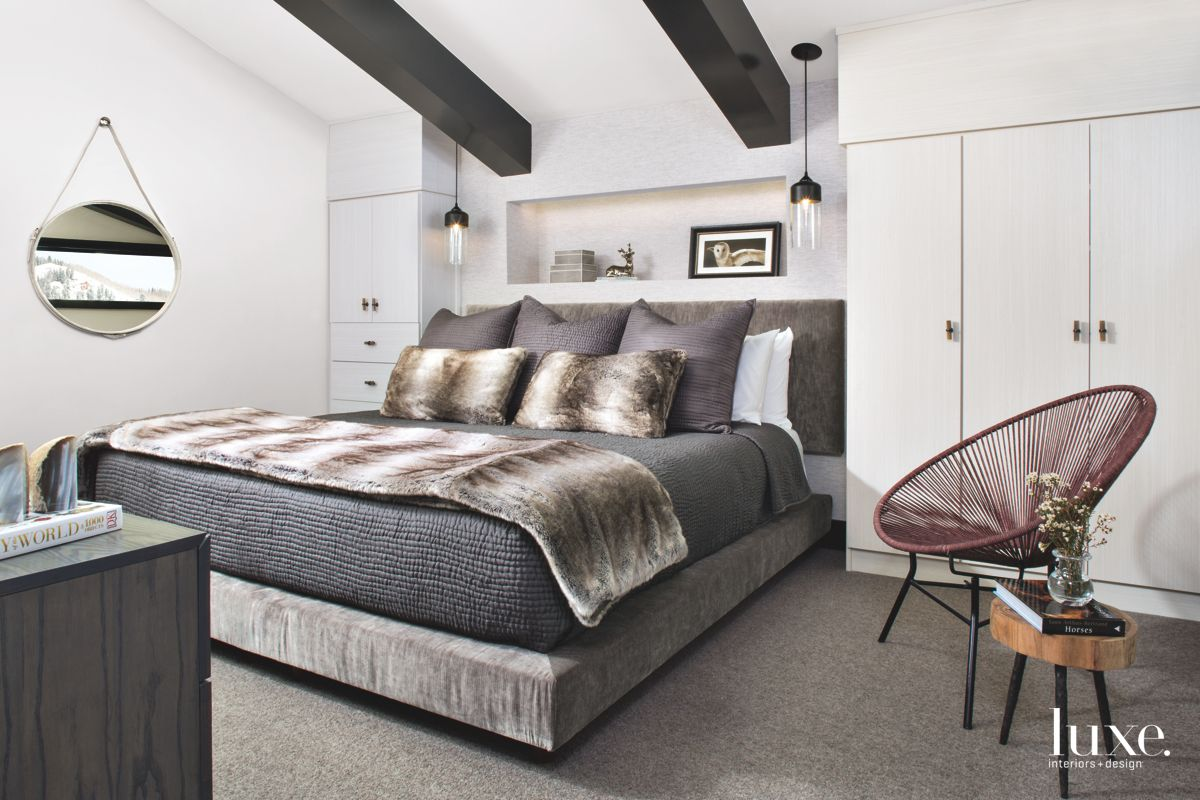 Warm, Modern Guest Bedroom in Vail Valley Condo