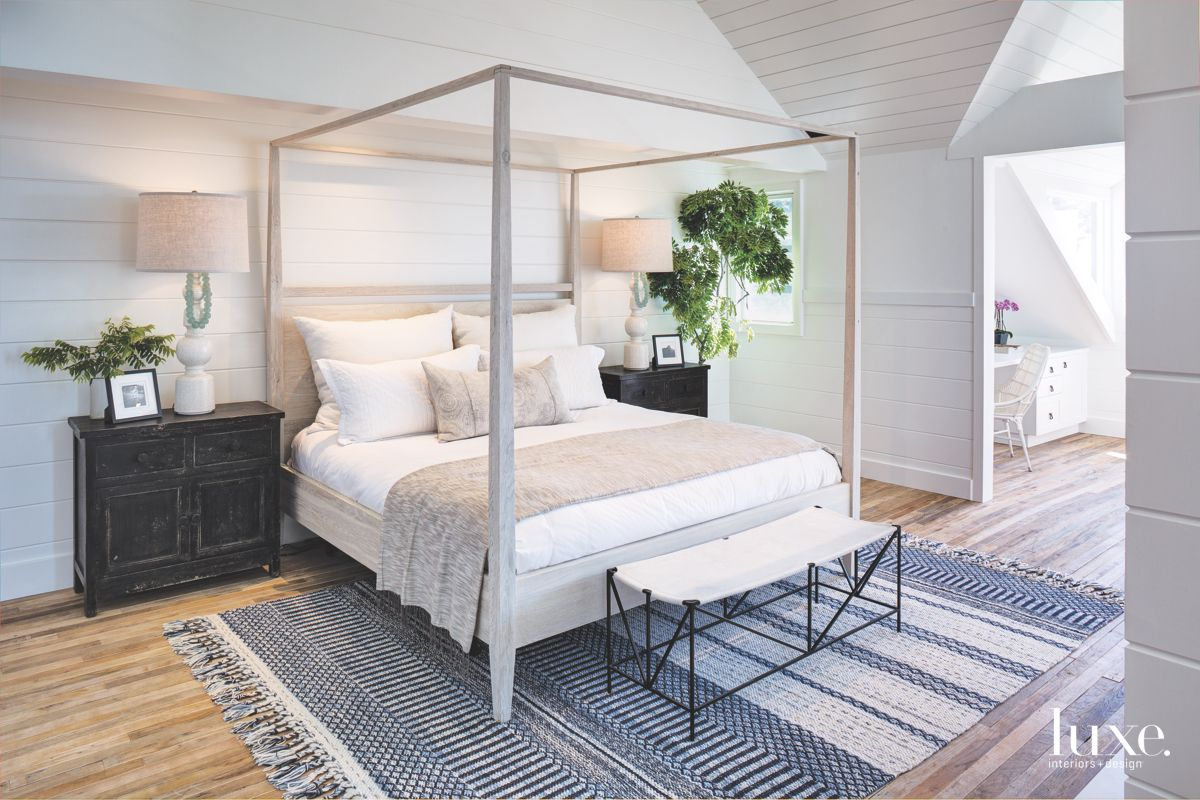 Vibrant Touches in Beachy Solana Beach Master Bedroom