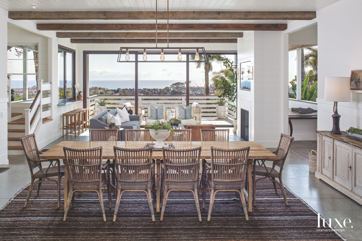 Beachy Dining Room with A View in Solana Beach