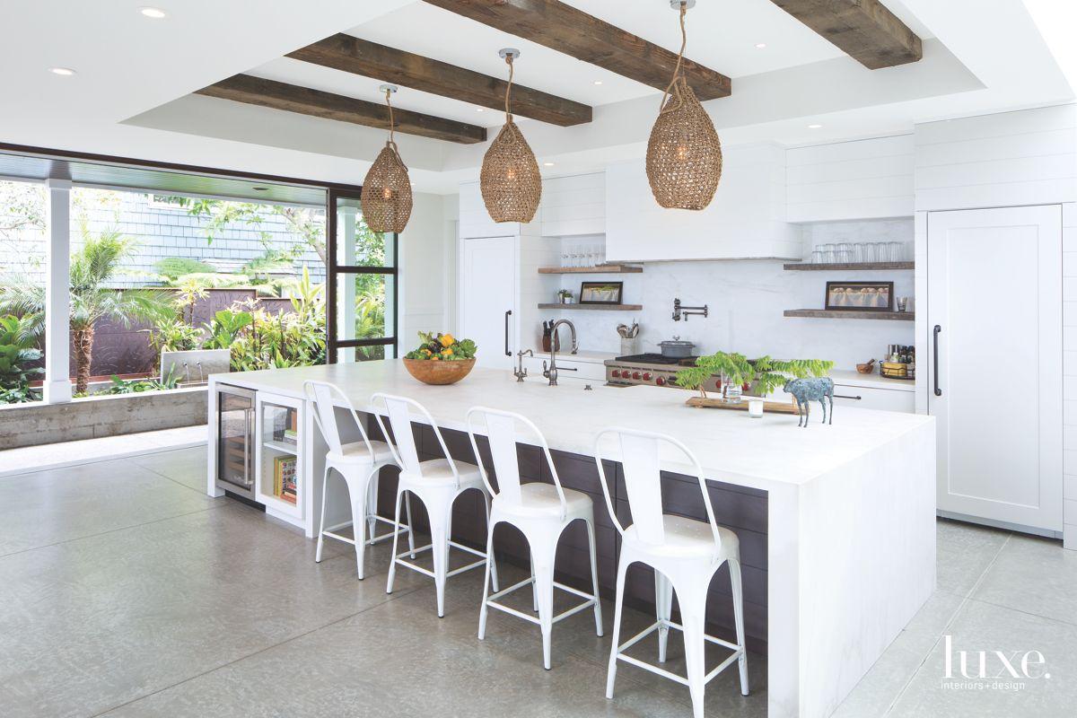 White Kitchen with Beach Vibes in Solana Beach