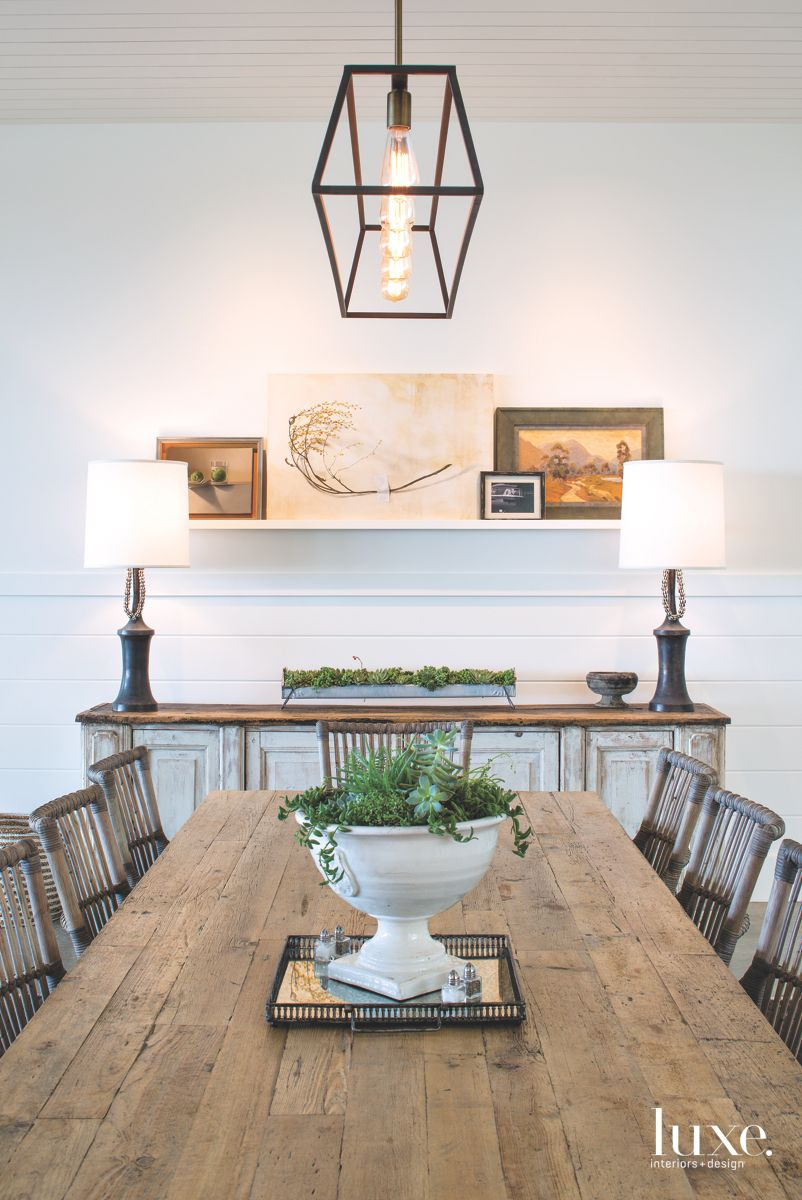 Traditional Dining Room with Beachy Influences in Solana Beach