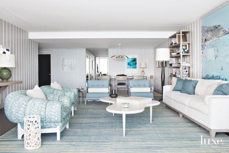 Pale Palette in Calm, Modern Miami Apartment - Luxe Interiors + Design