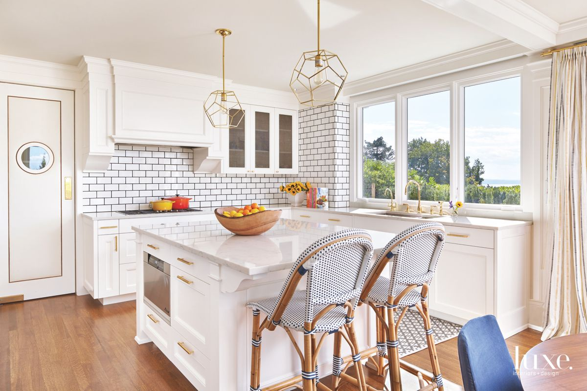 White Kitchen in Eclectic Seattle Home