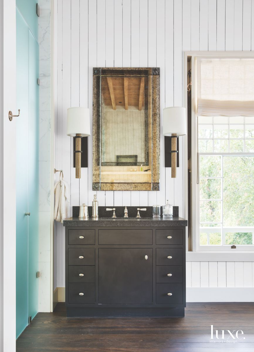 Rustic Touches in Calistoga Country Master Bath