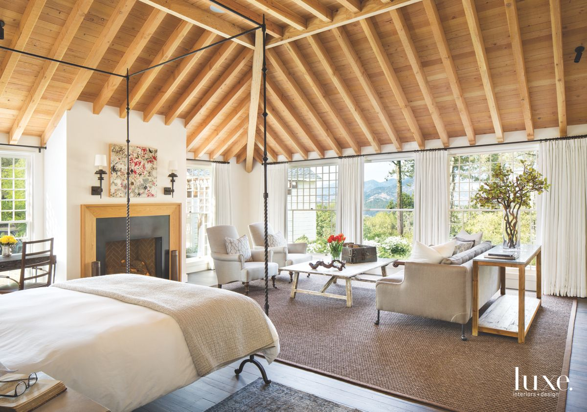 Sitting Area in Calistoga Country Home