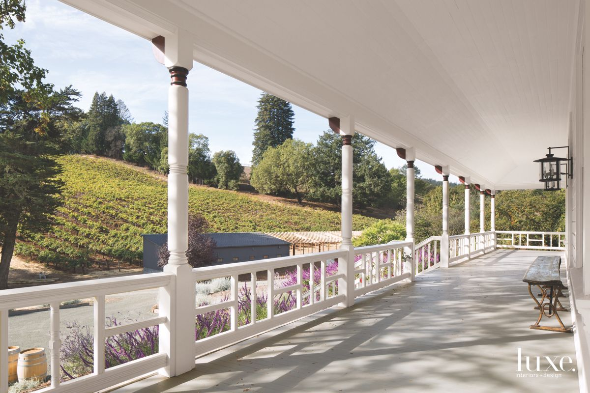 Vineyard Views from Calistoga Wraparound Porch