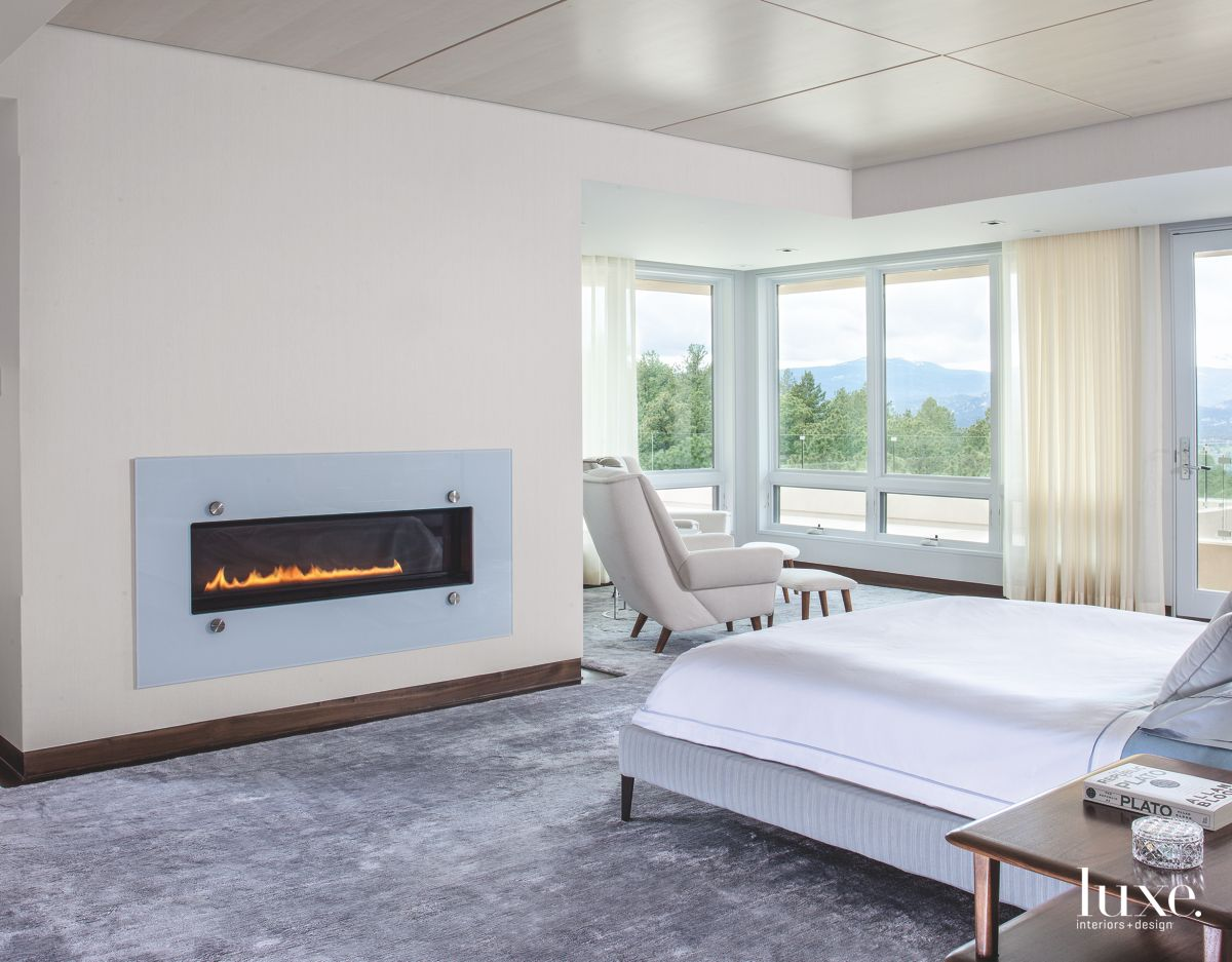Custom Touches Add Warmth to Modernist Denver Master Bedroom