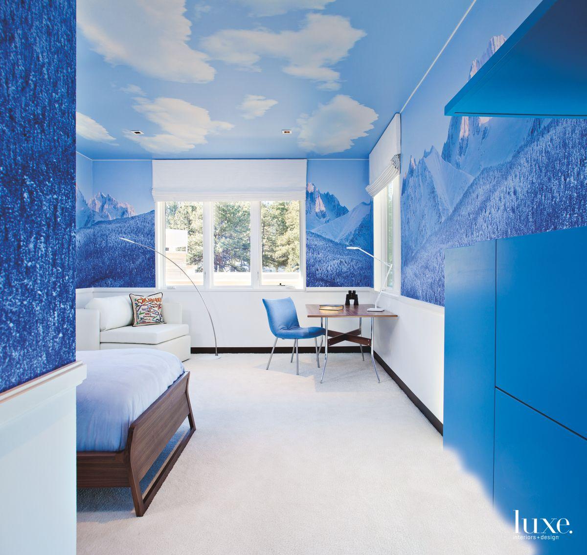 Wall Mural Brings the Mountains Inside of Modernist Denver Home