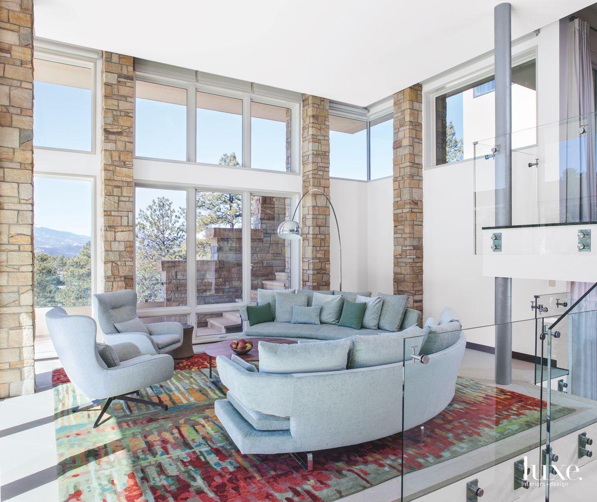 Comfortable Modernist Living Room in Colorado