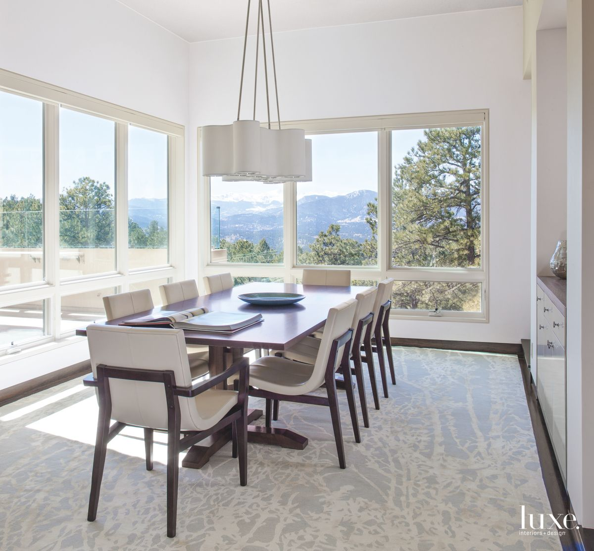 Modernist Denver Dining Room with Mountain Views
