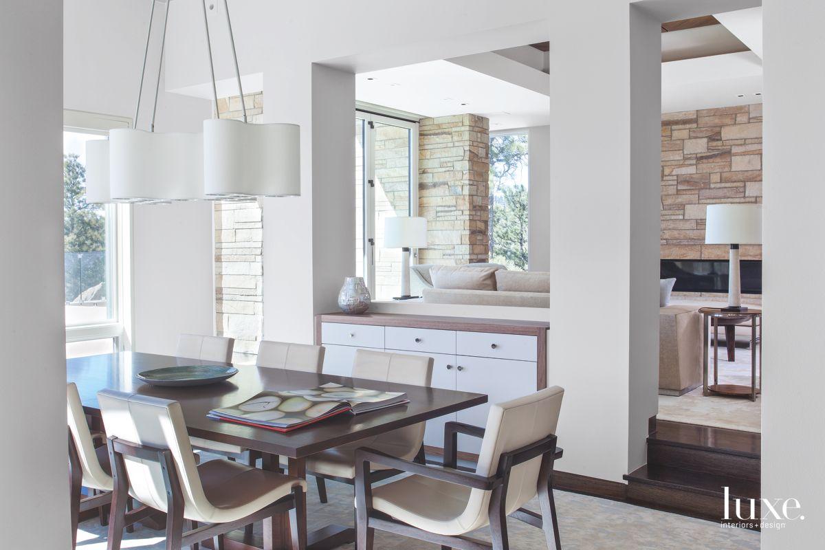 Modernist Dining Room in Warm Denver Home