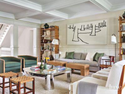 Related Designs & Dressy \u0026 Informal Living Room in Colorful Bridgehampton Home - Luxe ...