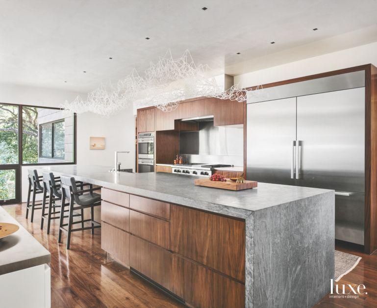 Modern San Antonio Kitchen Centered Around Art Luxe