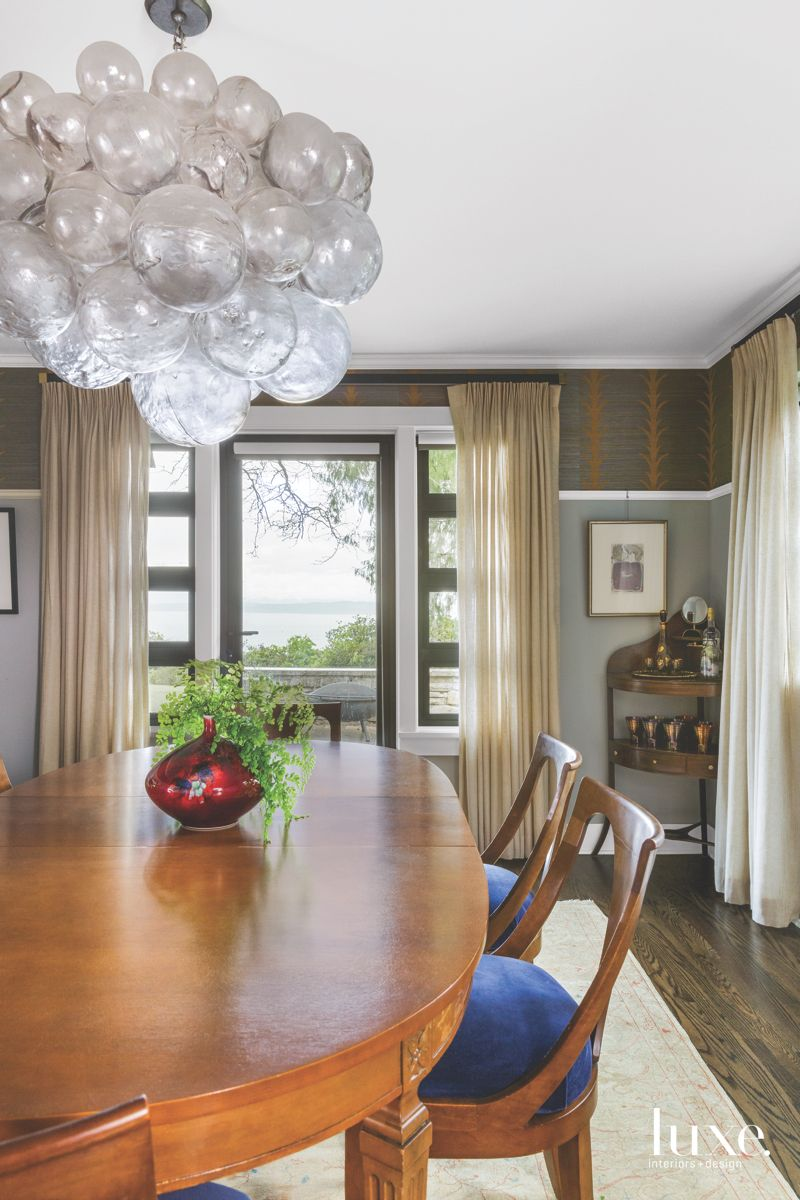 Playful Touches in Dining Room With Family Pieces in Seattle