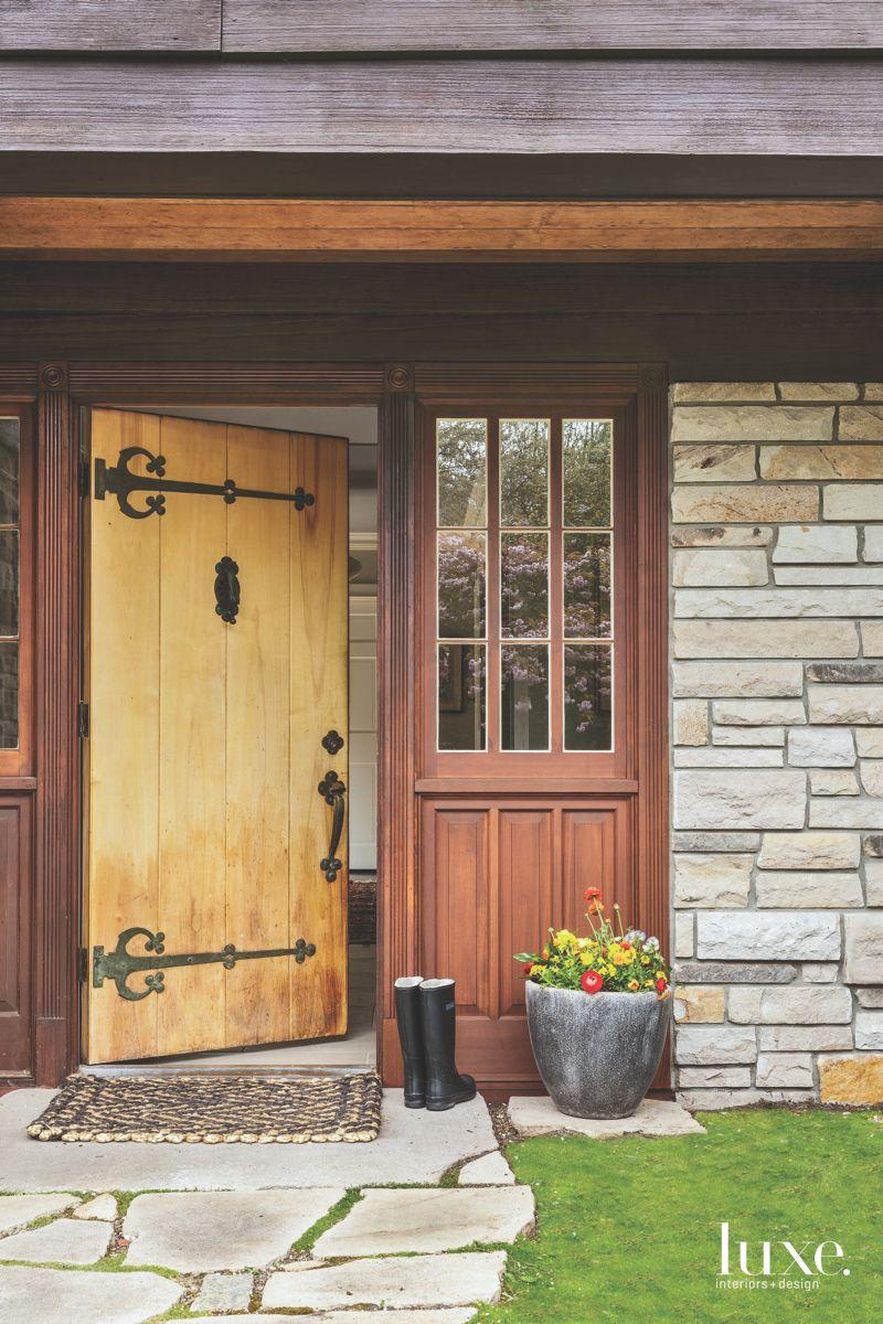 Tudoresque Front Door on Seattle Home