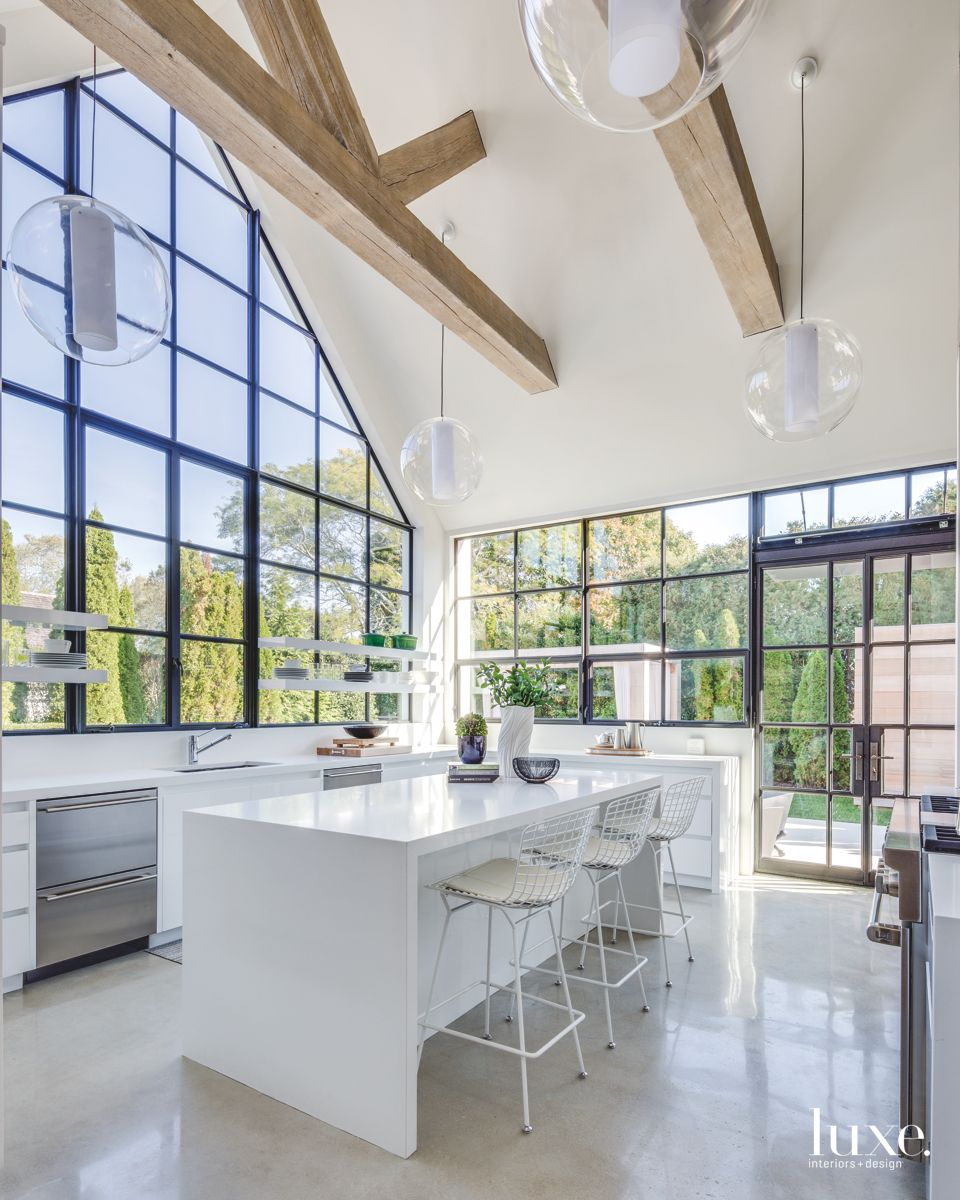 Amazing Windowed Southampton Kitchen With Floating Shelves