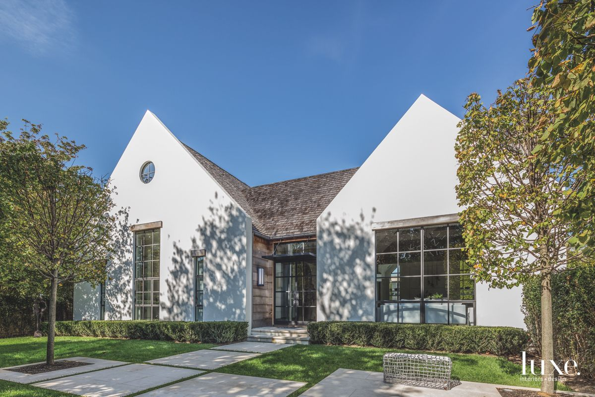 White Hamptons House with Shingled Roof