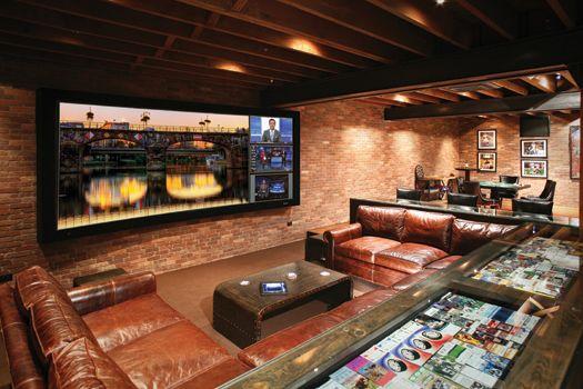 This minimalistic media room has Bowers &