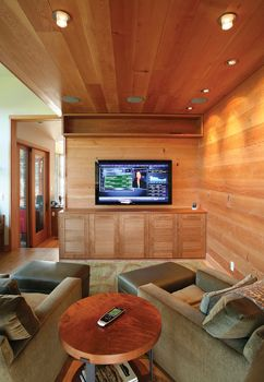 This Simple Yet Conformable Media Room Is Controlled By A Central Remote Luource Luxe Magazine The Luxury Home Redefined