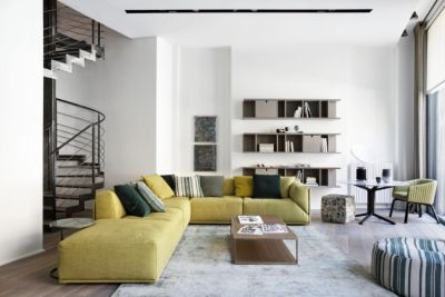 16   Milan Flagship   Bacon Sofa   Harris Wall Unit Meridiani | LuxeSource  | Luxe Magazine   The Luxury Home Redefined