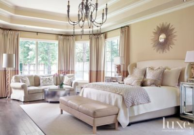 Cream Transitional French Inspired Master Bedroom   Luxe Interiors + Design