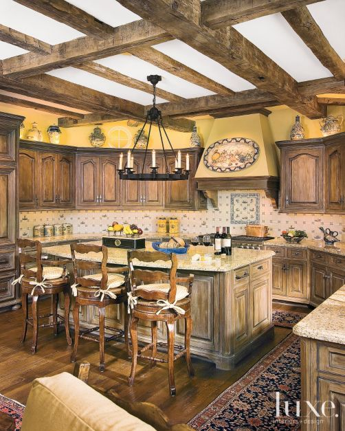 Rustic Yellow Kitchen: Luxe Magazine - The Luxury Home Redefined