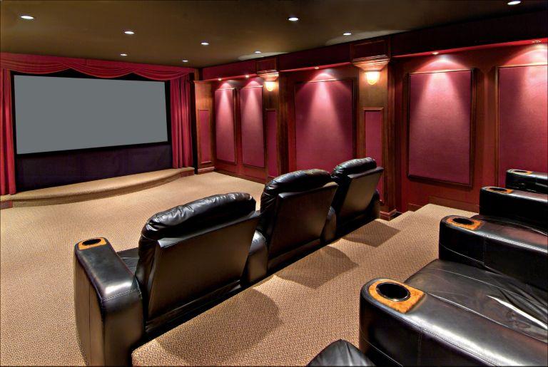 Contemporary Home Theater - Luxe Interiors + Design