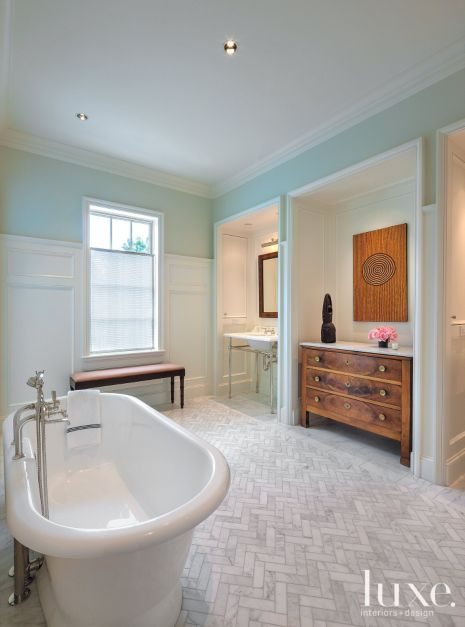 Elegant Transitional Master Bathroom Luxe Interiors Design
