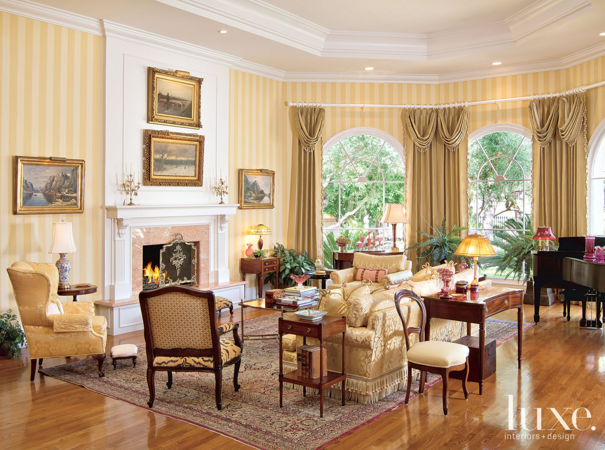 Gold Traditional Living Room