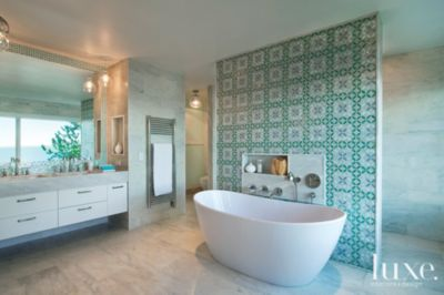 Superbe 15 Beautiful Bathroom Tile Designs | Features   Design Insight From The  Editors Of Luxe Interiors + Design
