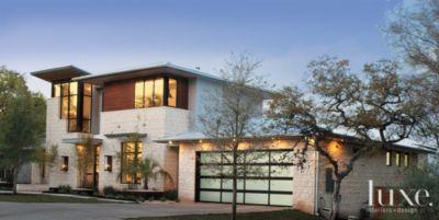 Modern Limestone Front Exterior Luxe Interiors Design