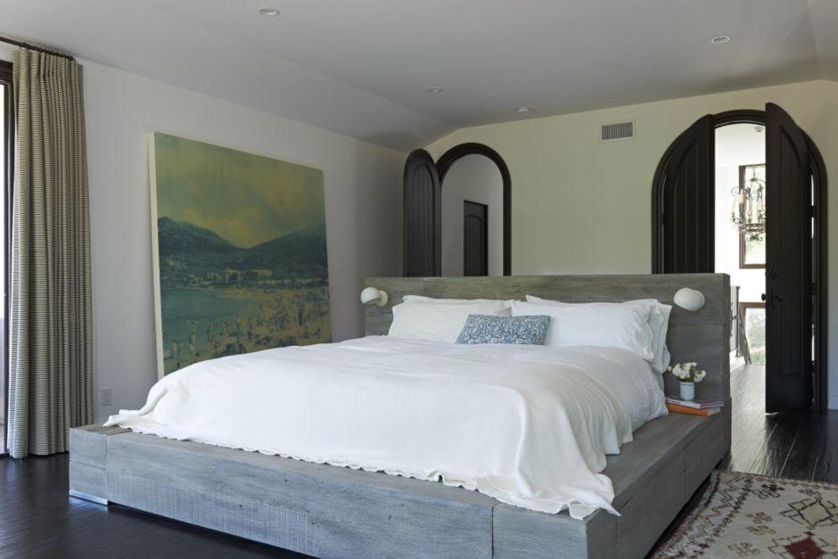 Modern White Master Bedroom - Luxe Interiors + Design