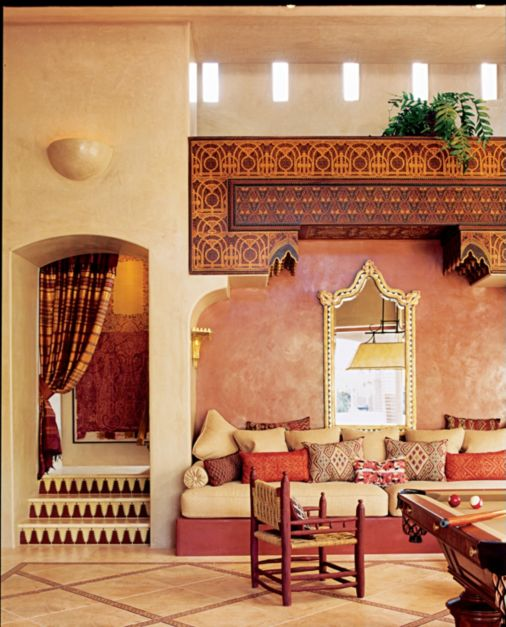 Wohndesign Braunschweig: Mediterranean Moroccan Game Room