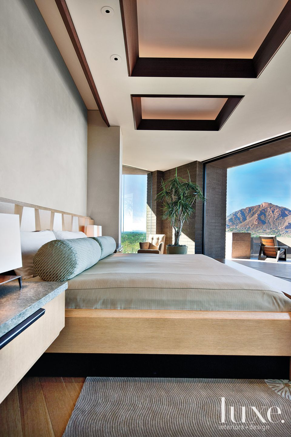 Modern Neutral Bedroom with Private Terrace