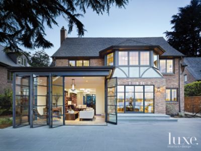Classic Seattle Tudor Home with Contemporary Interiors Features