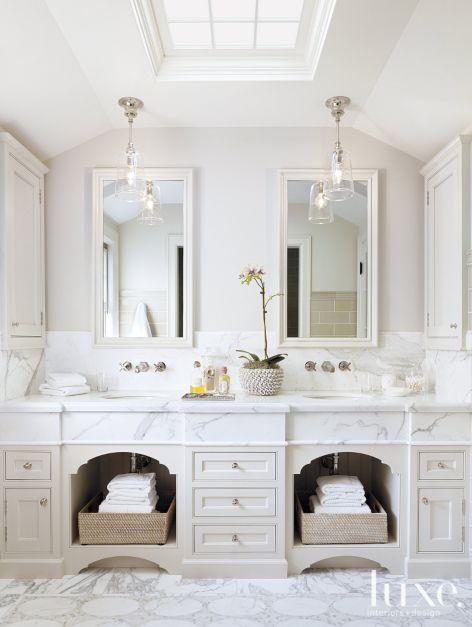 White Traditional Bathroom Luxe Interiors Design