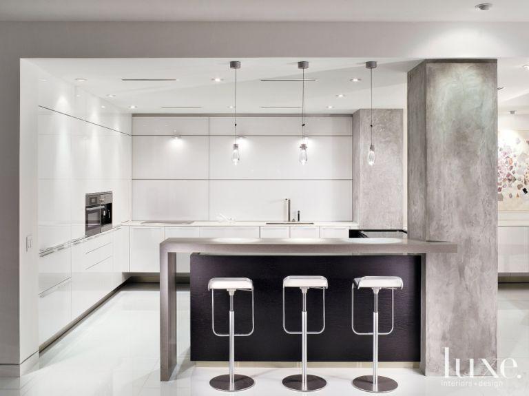Sleek Minimalist Kitchen - Luxe Interiors + Design