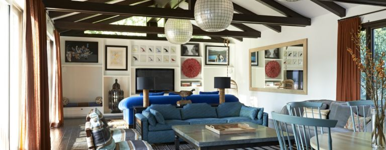 a malibu spanish style home with bold accents features design