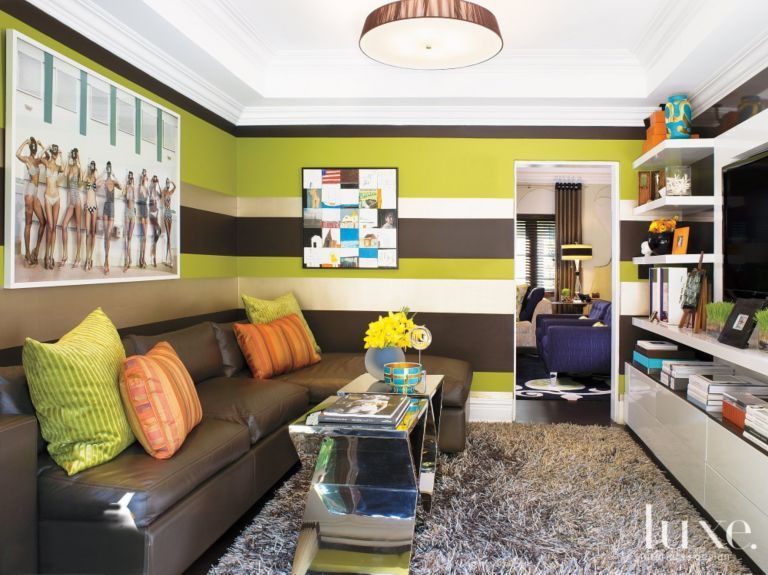 Media Room With Lively Decor