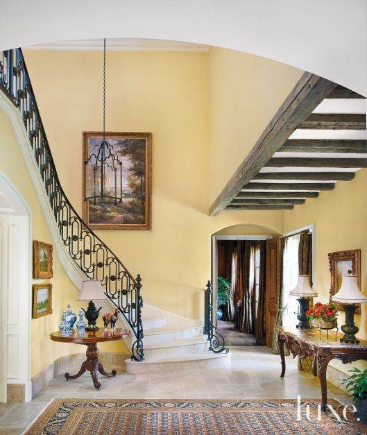 French Country Foyer And Staircase Luxe Interiors Design