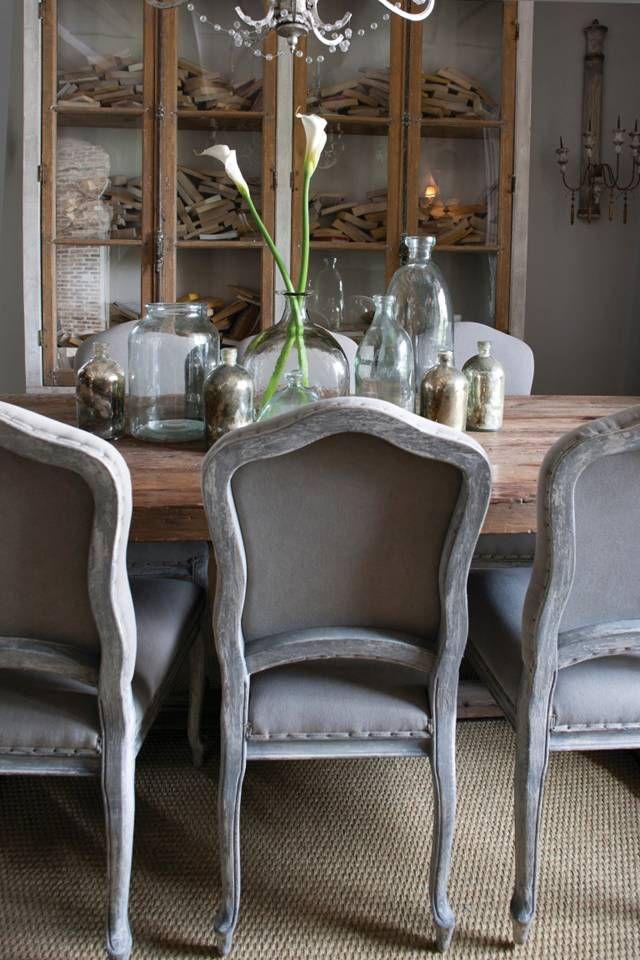 Three Doors Houston Aidan Gray Dining Chairs Luxe Interiors Design - Aidan gray dining table