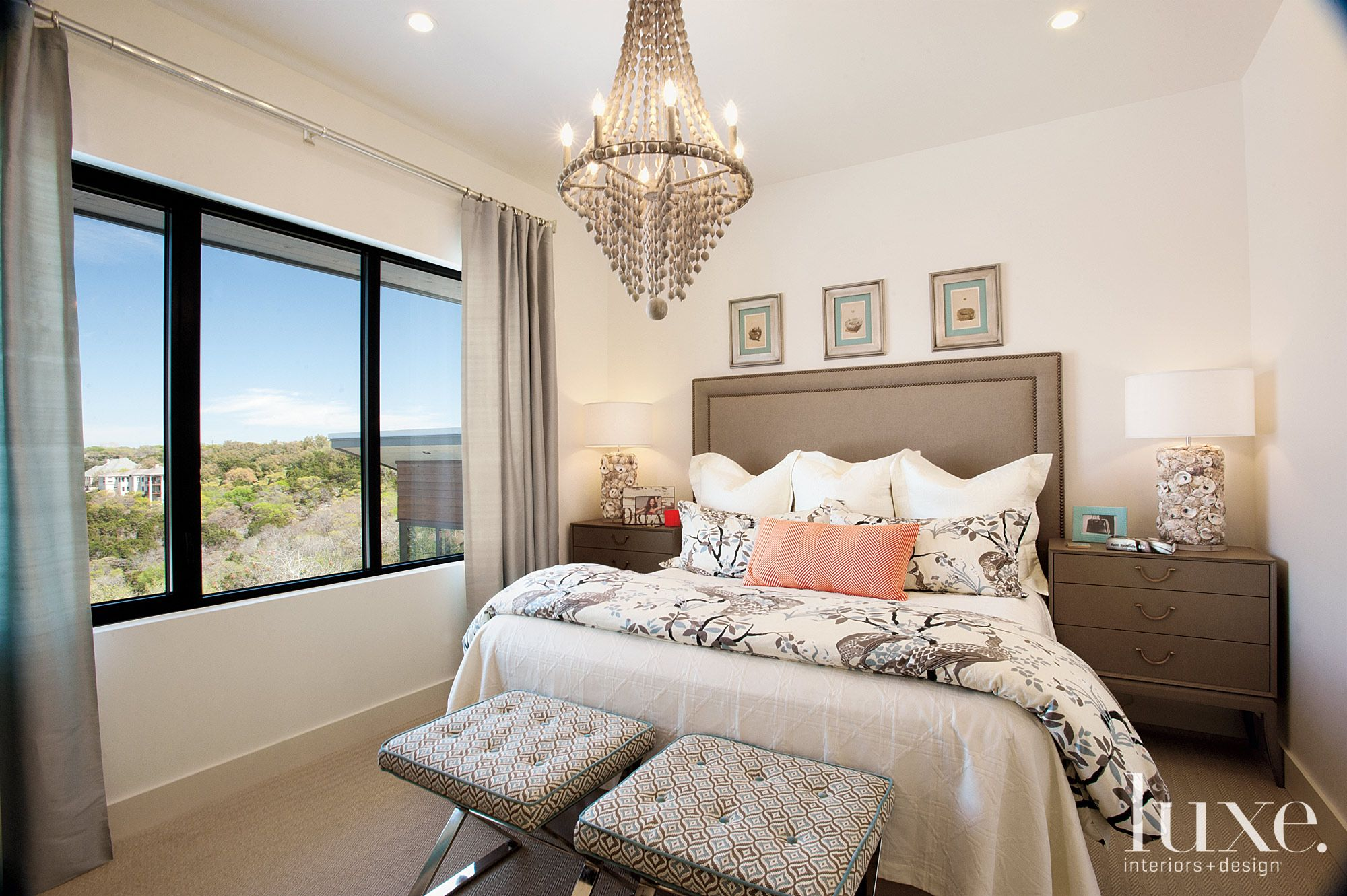 Modern Transitional Guest Room